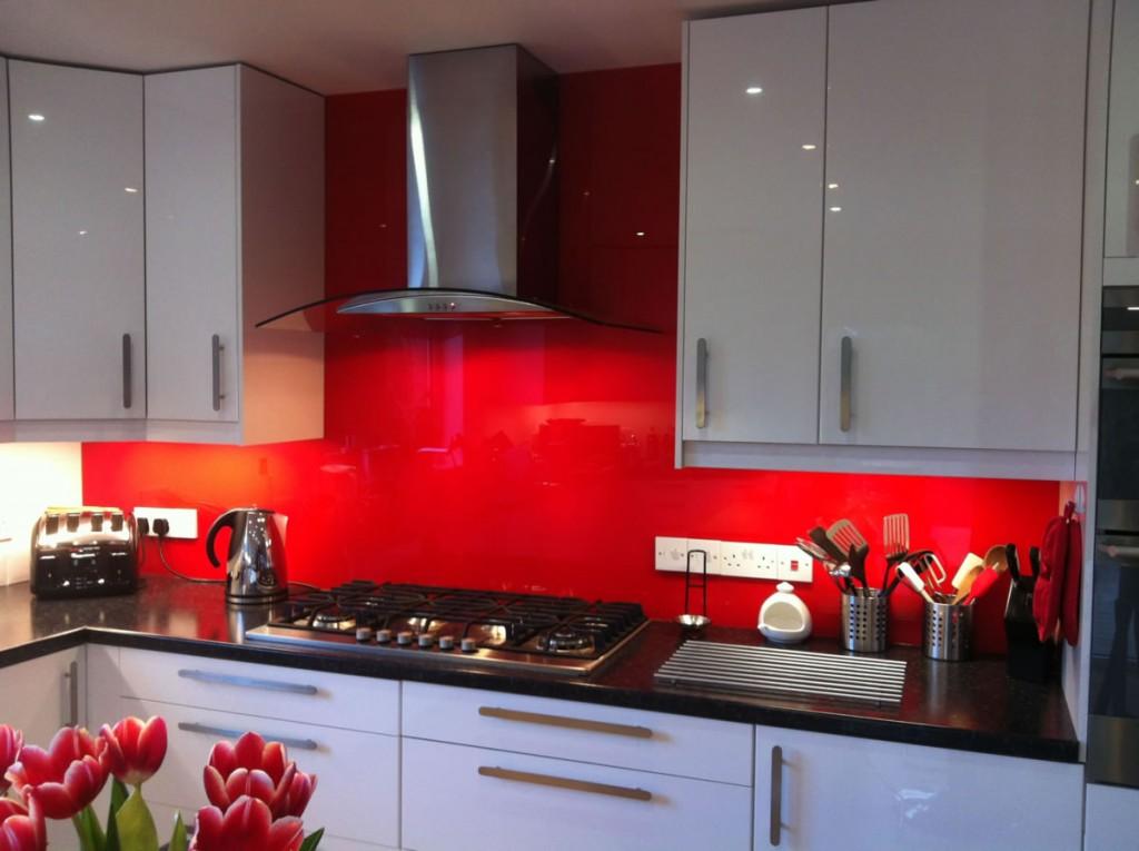 kitchen splashback example in Edinburgh home