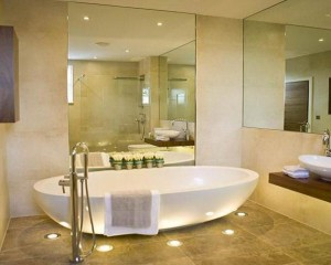 bathroom mirror in Edinburgh home